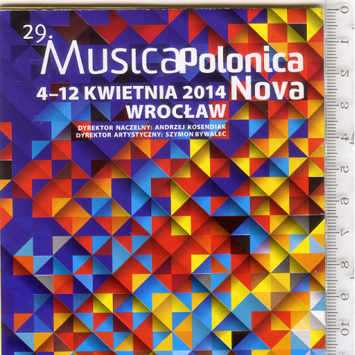 Театр.складная полноцветная программка формата А3+ Вроцлавской филармонии на апрель 2014 г.