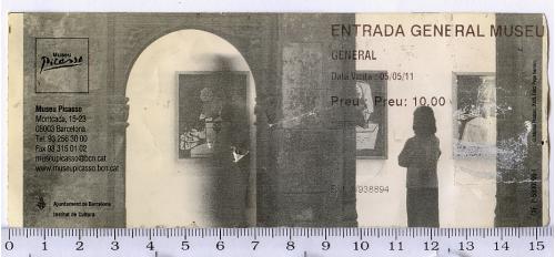 Входной общий билет одноразовый в Музей Пикассо в Барселоне, Королевство Испания.