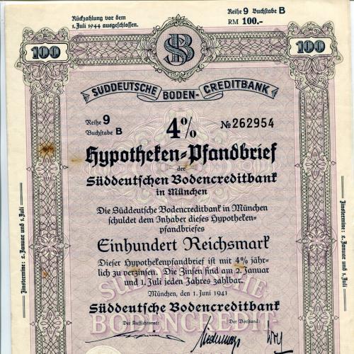 Акція на 100 райхсмарок 1941 р.