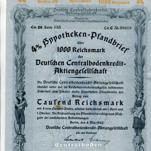 Акція на 1000 райхсмарок 1942 р.