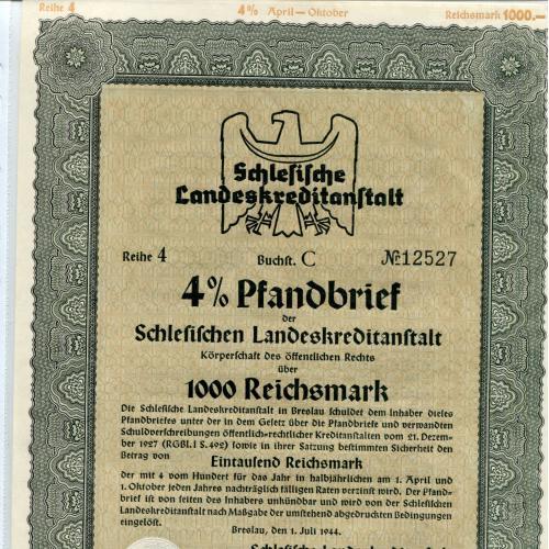 Акція на 1000 райхсмарок 1944 р.