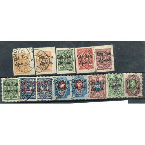 Генерал Юденіч, комплект марок 1919 р.