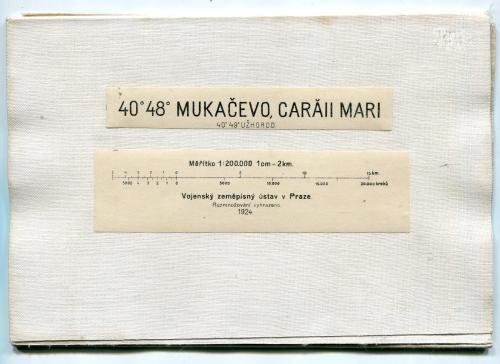 Карта Мукачево 1924 р.