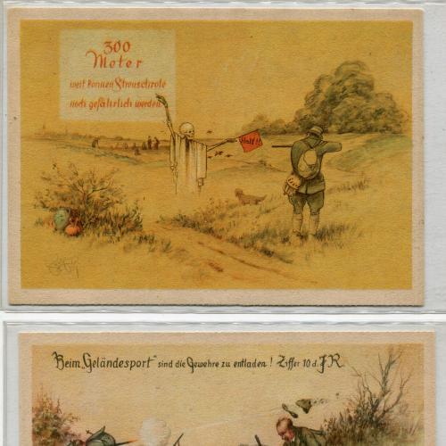 Комплект 5 шт. поштівки Полювання. Німеччина.