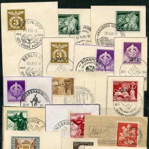 Комплект марок із спецпогашенням ІІІ Райх.