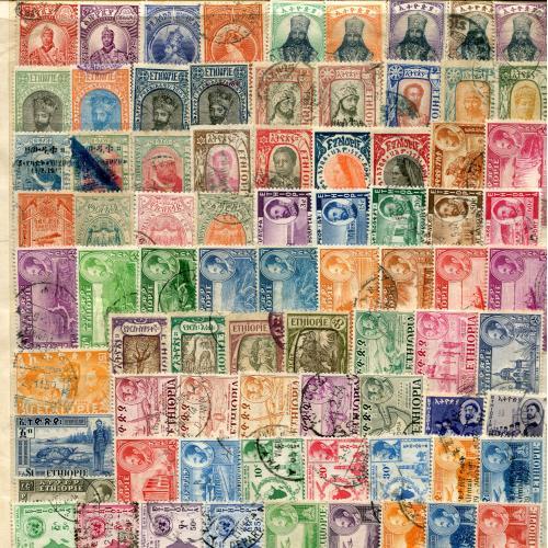 Набір марок Ефіопія 167 шт.
