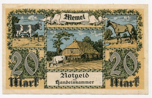 Нотґельд на 20 марок. 1922 р.