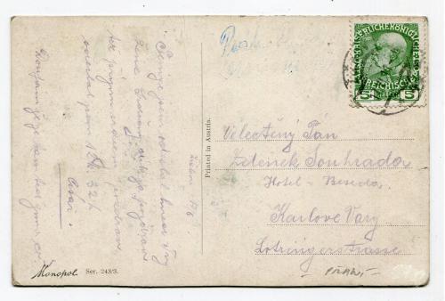 Поштівка Австрія 1911 р.