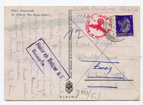 Танкіст. Німецька пошта. 1943 р.