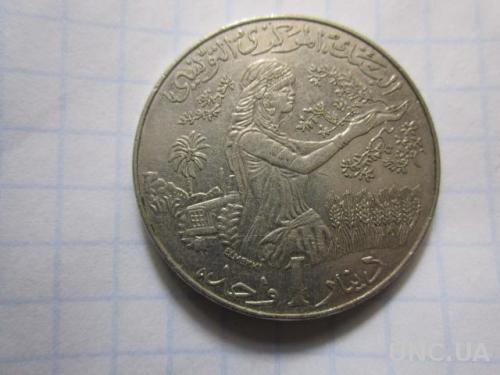 Тунис,1 динар, 2011 год. №100