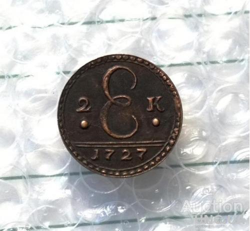 2 копейки 1727 год Екатерина 1