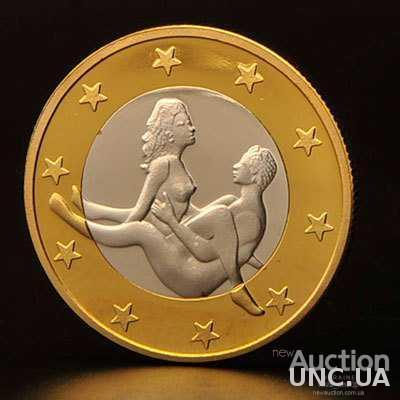 6 Sex Euros (6 Секс Евро), сувенирная монета в капсуле пруф