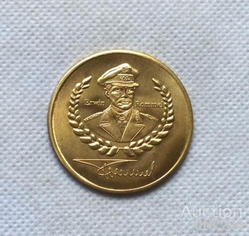 Эрвин Роммель медаль монета Битва при Эль-аламейне Германия, Erwin Rommel (1891 — 1944)