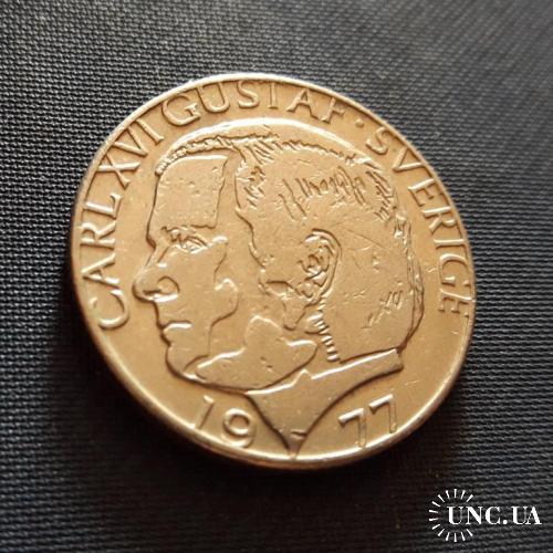 Швеция 1 Крона  1977 г. 7g, ø 25mm Отличный  Сохран!!! Король Карл XVI Густав