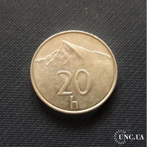 Словакия 20 геллеров 1994 г.0.95g, ø 19.5mm  Отличный Сохран!