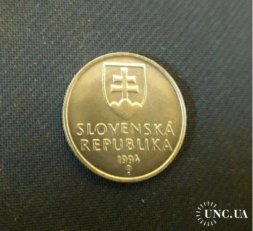 Словакия 20 геллеров 1994 г.  UNC 0.95g, ø 19.5mm Отличный Сохран!