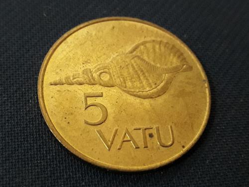 Вануату, 5 вату 4.1g, ø 23.5mm 1995 г. Фауна