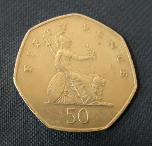 Великобритания 50 пенсов  2001 г., 8g, ø 27.3mm Отличный  Сохран!!