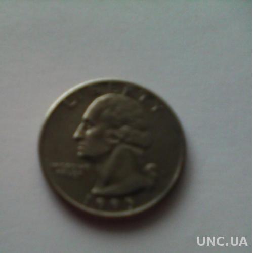Монета LIBERTI QUARTER DOLLAR 1995г. перевёртыш