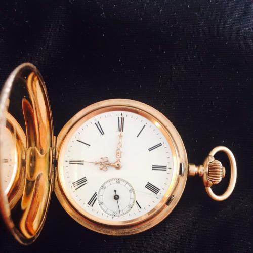 Золотые часы карманные