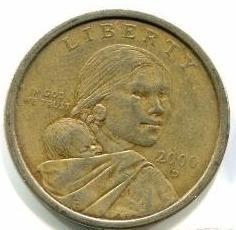 1 доллар 2000 D США - Сакагавея