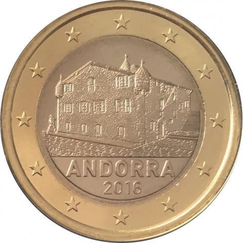 1 евро 2016 Андорра. Нечастая ! UNC/aUNC