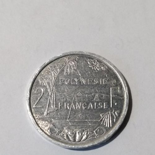 2 франка, Французская Полинейзия, 2004 год.