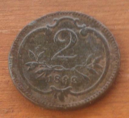 АВСТРИЯ -  2 ГЕЛЛЕРА 1899г