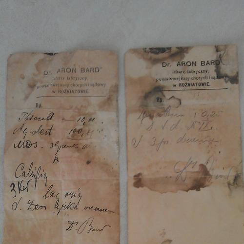 Два старых рецепта доктора 1910г Австро-Венгрия
