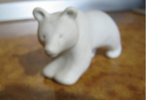 """Фигурка (статуэтка) ,,Белый медвежонок""""."""