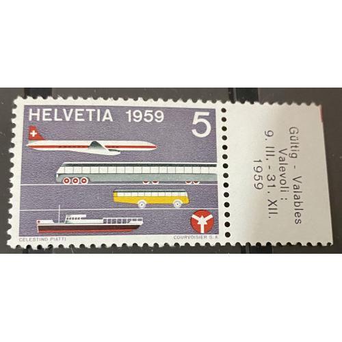 1959. Швейцария. Транспорт