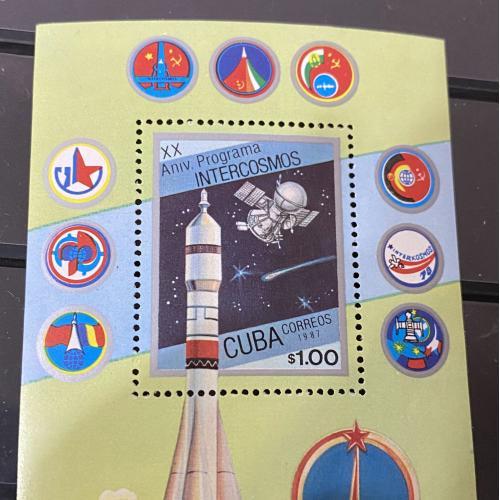 1987. Куба. Космос. Блок. MNH