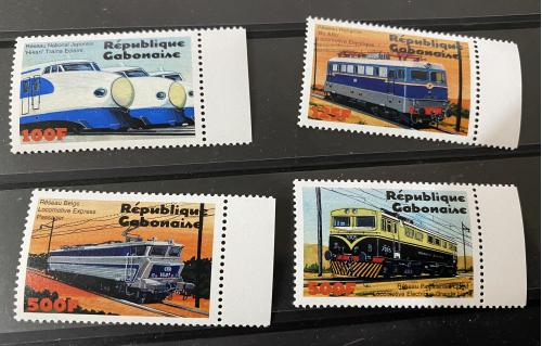 2000. Габон. Поезда. MNH
