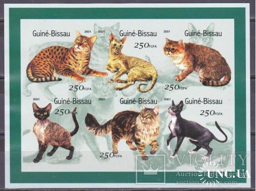 2001. Гвинея Биссао. Коты. MNH