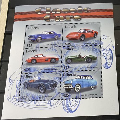 2001. Либерия. Автомобили. MNH