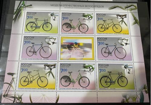 2008. Россия. Велосипеды. Мини-лист. MNH