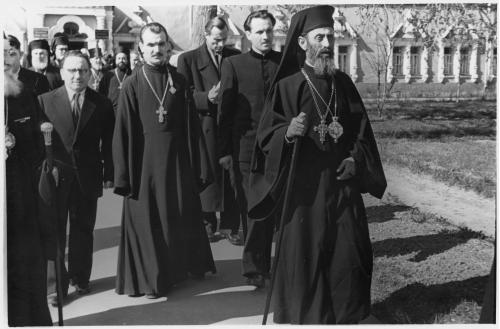 ФОТО. 1958 г. Митрополит Феоклит, Священники, Троице-Сергиева Лавра, МДА