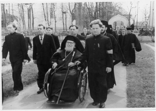 ФОТО. 1958 г. Патриарх Александрийский Христофор II  Священники Троице-Сергиева Лавра, МДА