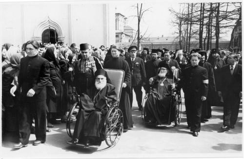 ФОТО. 1958 г. Патриарх Антиохийский Александр III Тахан, Патриарх Александрийский Христофор II