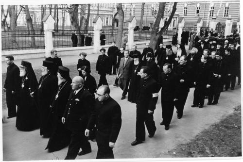 ФОТО. 1958 г. Патриархи, Митрополиты, Священники, Троице-Сергиева Лавра, МДА