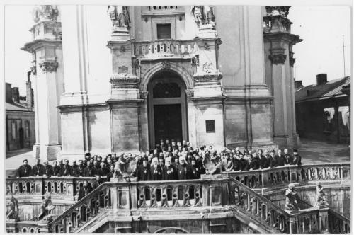 ФОТО. 1981 г. 35-летие возвращения греко-католиков в РПЦ . Львов. Собор Святого Юра