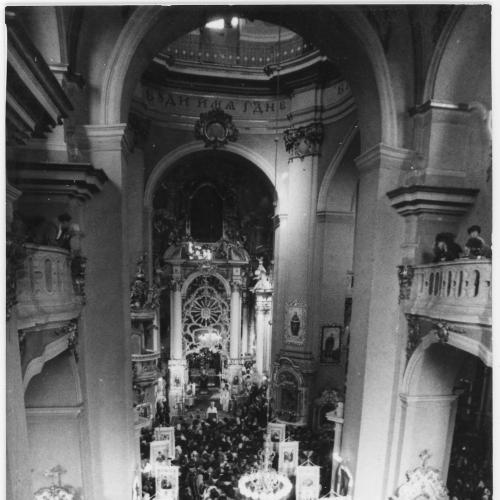 ФОТО. 1986 г. 40-я годовщина созыва Львовского церковного собора. Львов , Собор Святого Юра