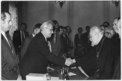 ФОТО. 1991 г. Глава УГКЦ кардинал Мирослав (Любачевский ) и Президента Украины Леонид Кравчук