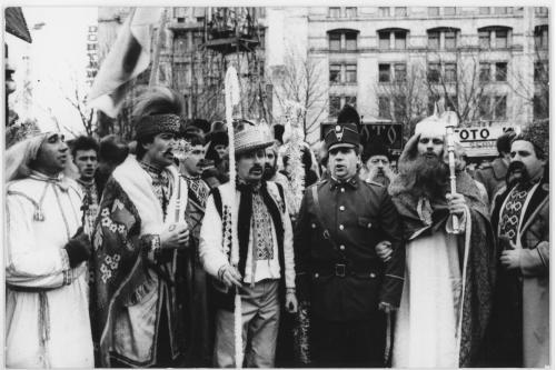 ФОТО. 1992 г. Народное празднование Рождества Христового на Майдане Независимости