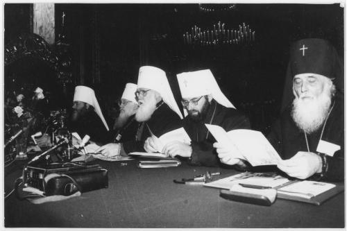 ФОТО. 1995 г. Поместный собор УПЦ КП . Митрополит Филарет (Денисенко)