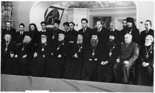 ФОТО. 50-е XX века. Митрополиты, епископы, священники ТСЛ, Ректор МДА Константин Ружицкий
