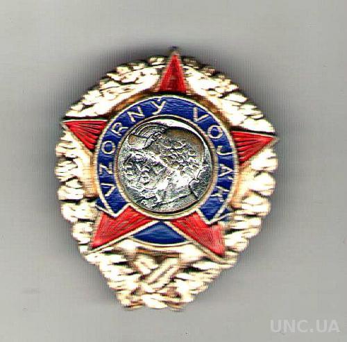 """Чехословакия. Знак """"Образцовый солдат"""""""