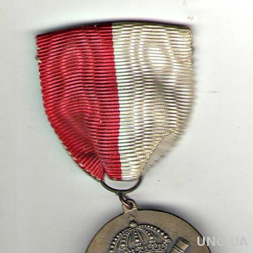 Швеция. Бронзовая медаль за 3-е место в лыжных гонках на 30 км. 1944 год.