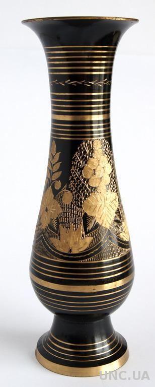 Антикварная ваза штихельный узор латунь my11 India