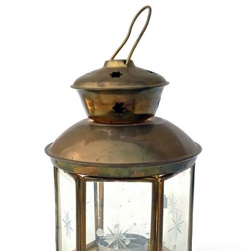 Антикварний ліхтар підсвічник Різдвяний Новорічний фонарь Germany Yh07